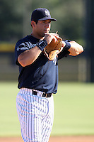 New York Yankees minor league third baseman Rob Segedin (66) vs. the Pittsburgh Pirates in an Instructional League game at the New York Yankees Minor League Complex in Tampa, Florida;  October 8, 2010.  Photo By Mike Janes/Four Seam Images