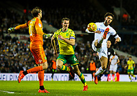 Leeds United's Tyler Roberts lobs Norwich City's Tim Krul, but misses the target<br /> <br /> Photographer Alex Dodd/CameraSport<br /> <br /> The EFL Sky Bet Championship - Leeds United v Norwich City - Saturday 2nd February 2019 - Elland Road - Leeds<br /> <br /> World Copyright © 2019 CameraSport. All rights reserved. 43 Linden Ave. Countesthorpe. Leicester. England. LE8 5PG - Tel: +44 (0) 116 277 4147 - admin@camerasport.com - www.camerasport.com