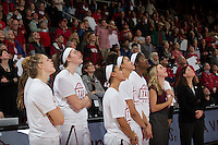 STANFORD, CA - FEBRUARY 2, 2017: Stanford Women's Basketball vs USC. Stanford defeated USC 58-42 make this Head Coach Tara VanDerveer's 1000th career win.