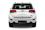 Straight rear view of 2018 JEEP Grand-Cherokee Overland 5 Door SUV Rear View  stock images