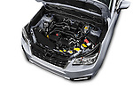 Car Stock 2018 Subaru Forester 2.5i-Limited-CVT 5 Door SUV Engine  high angle detail view