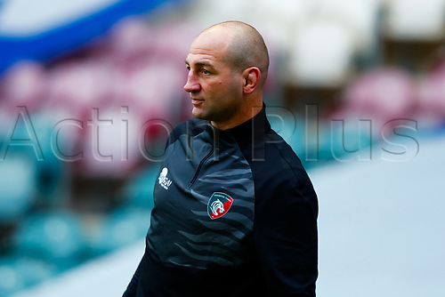 21st November 2020; Welford Road Stadium, Leicester, Midlands, England; Premiership Rugby, Leicester Tigers versus Gloucester Rugby; Leicester Tigers Head Coach Steve Borthwick during the pre-match warm-up