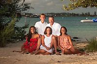 Petrofsky family at Grotto Bay