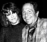 Jane Fonda and artist Robert Rauschenberg 1980<br /> Photo By Adam Scull/PHOTOlink.net