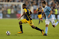 Kansas City, KS - Wednesday September 20, 2017: Tyler Adams during the 2017 U.S. Open Cup Final Championship game between Sporting Kansas City and the New York Red Bulls at Children's Mercy Park.