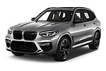2020 BMW X3 M-Competition 5 Door SUV Angular Front automotive stock photos of front three quarter view