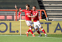 12th September 2020; Ashton Gate Stadium, Bristol, England; English Football League Championship Football, Bristol City versus Coventry City; Jamie Paterson of Bristol City celebrates scoring a goal in the 1st minute for a 1-0 lead