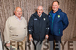 Mike Slattery (Ladies Walk), Joe Wallace (Ardfert) and Johnny Stack (North Kerry Football Board) attending the Kerry GAA County Convention in the Rose Hotel on Tuesday night.