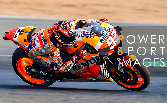 Repsol Honda Team's rider Marc Marquez of Spain rides during the MotoGP Official Test at Chang International Circuit on 18 February 2018, in Buriram, Thailand. Photo by Kaikungwon Duanjumroon / Power Sport Images