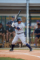 Detroit Tigers Yoandy Rea (32) at bat during an Instructional League instrasquad game on September 20, 2019 at Tigertown in Lakeland, Florida.  (Mike Janes/Four Seam Images)