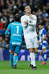 Real Madrid´s Cristiano Ronaldo reacts during 2015/16 La Liga match between Real Madrid and Deportivo de la Coruna at Santiago Bernabeu stadium in Madrid, Spain. January 09, 2015. (ALTERPHOTOS/Victor Blanco)