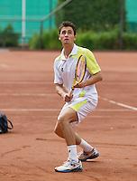 2013-08-17, Netherlands, Raalte,  TV Ramele, Tennis, NRTK 2013, National Ranking Tennis Champ,   Evthimios Karaliolios<br /> <br /> Photo: Henk Koster