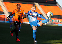 Patrick Brough (R) of Barrow clears from Josh walker during Barnet vs Barrow, Buildbase FA Trophy Football at the Hive Stadium on 8th February 2020