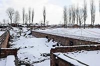 POLAND , Oswiecim, Auschwitz-Birkenau, concentration camp of german Nazi regime, where 1 Million jews where murdered by SS (1940–1945), ruins of gas chamber / POLEN Auschwitz-Birkenau, deutsches nationalsozialistisches Konzentrations- und Vernichtungslager (1940–1945) , hier wurden ca. 1 Million Juden durch die SS ermordet, Ruine der Gaskammern