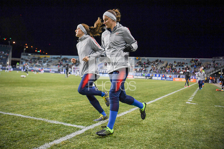Chester, PA - Wednesday February 27, 2019: The women's national teams of the United States (USA) and Japan (JPN) play in a 2019 SheBelieves Cup early round match at Talen Energy Stadium.