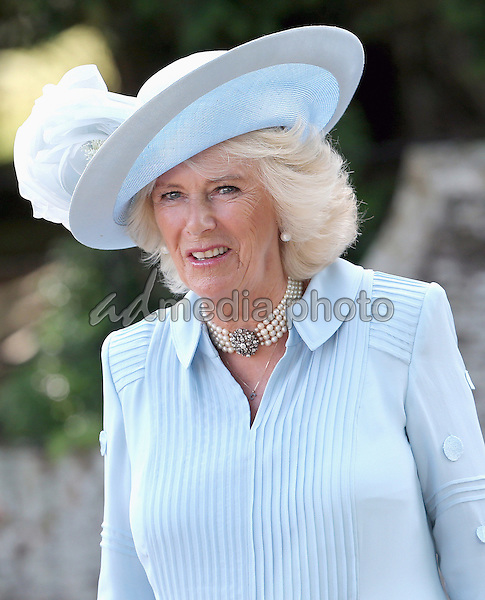 05 July 2015 - King's Lynn, United Kingdom - Camilla Duchess of Cornwall. The Christening of Princess Charlotte of Cambridge at the Church of St Mary Magdalene on the Sandringham Estate. Photo Credit: Alpha Press/AdMedia