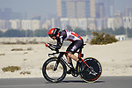 Harrison Sweeny (AUS) Lotto-Soudal during Stage 2 of the 2021 UAE Tour an individual time trial running 13km around  Al Hudayriyat Island, Abu Dhabi, UAE. 22nd February 2021.  <br /> Picture: Eoin Clarke | Cyclefile<br /> <br /> All photos usage must carry mandatory copyright credit (© Cyclefile | Eoin Clarke)