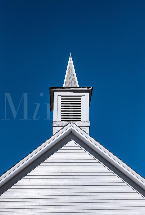 Church detail, Colrain, Vermont, USA.