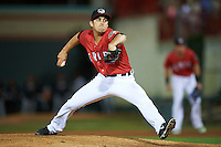 Erie SeaWolves relief pitcher Paul Voelker (3) during a game against the Richmond Flying Squirrels on August 22, 2016 at Jerry Uht Park in Erie, Pennsylvania.  Erie defeated Richmond 4-2.  (Mike Janes/Four Seam Images)
