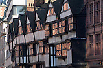 Staple Inn High Holborn London. Building dates from 1585 originally attached to Grays Inn which was one of the four Inns of Court.  UK