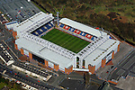 Aerial view of Ewood Park, home of Blackburn Rovers FC