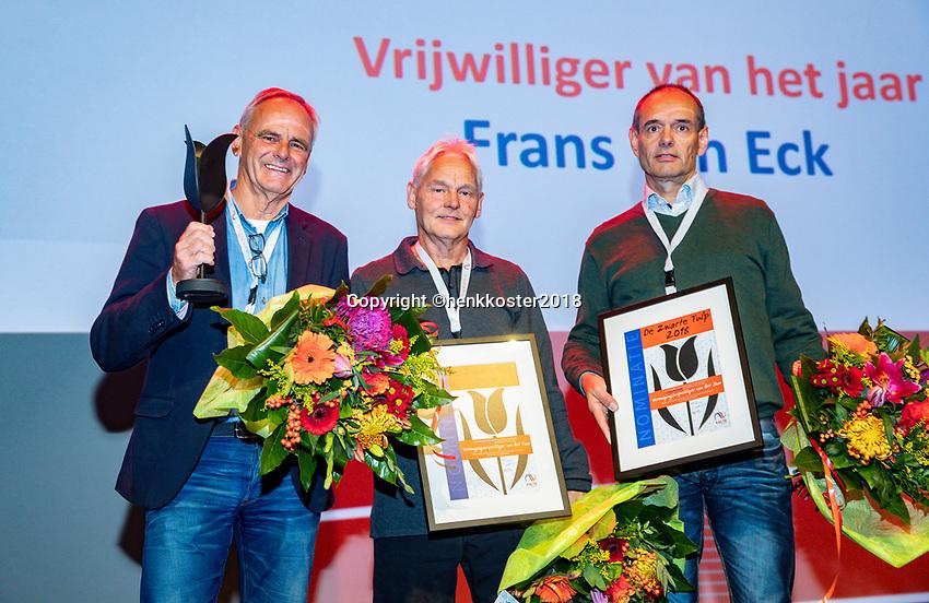 Nieuwegein,  Netherlands, 24 November 2018, KNLTB Year congress KNLTB, volunteer off the Year Frans van Eck (M)<br /> Photo: Tennisimages.com/Henk Koster
