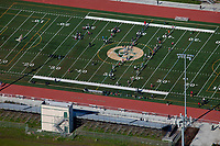 aerial photograph of the Casa Grande football field, Petaluma, Sonoma county, California