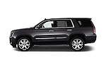 Car Driver side profile view of a 2015 Cadillac Escalade Premium 5 Door SUV 2WD Side View