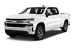 2020 Chevrolet Silverado-1500 LT 4 Door Pick-up Angular Front automotive stock photos of front three quarter view
