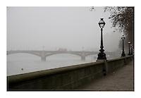 London in mist