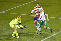 Abby Wambach attempts to score in the first half. USWNT played played a friendly against Ireland at JELD-WEN Field in Portland, Oregon on November 28, 2012.
