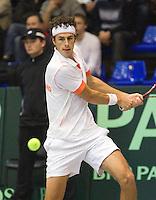 04-03-11, Tennis, Oekraine, Kharkov, Daviscup, Oekraine - Netherlands, Robin Haase