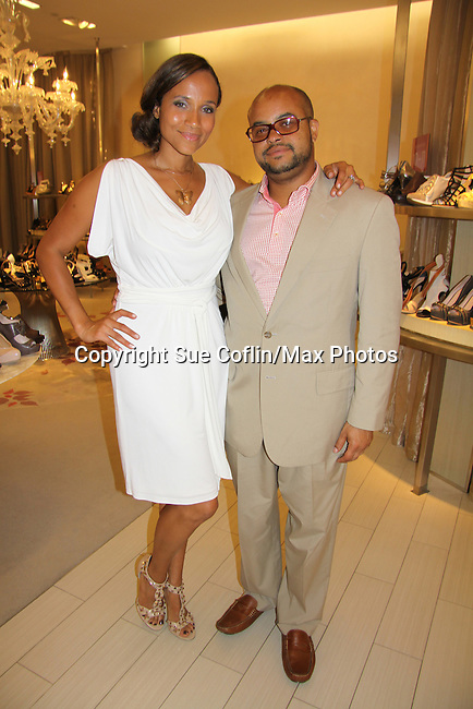 Guiding Light Yvonna Wright poses with her husband Brett Wright as they attend the Innaugural Celebration of Color on Broadway Awards were held on June 8, 2011 at SAKS Fifth Avenue, New York City, New York. The event was held upstairs where beautiful shoes are sold and where a part of the sales this night will benefit OPUS 118 Harlem's School of Music. (Photo by Sue Coflin/Max Photos)