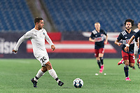 FOXBOROUGH, MA - SEPTEMBER 1: Joao Delgado #20 of FC Tucson passes the ball during a game between FC Tucson and New England Revolution II at Gillette Stadium on September 1, 2021 in Foxborough, Massachusetts.