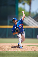 Tennessee Smokies relief pitcher Xavier Cedeno (13) during a Southern League game against the Jacksonville Jumbo Shrimp on April 29, 2019 at Baseball Grounds of Jacksonville in Jacksonville, Florida.  Tennessee defeated Jacksonville 4-1.  (Mike Janes/Four Seam Images)