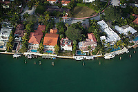 aerial photograph waterfront pools Rivo Alto island Venitian Islands Biscayne Bay Miami Florida
