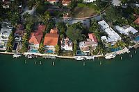 aerial photograph waterfront pools Rivo Alto island Venitian Islands Biscayne Bay Miami Florida