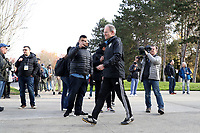 TUKWILA, WA - NOVEMBER 08: Head coach Brian Schmetzer of the Seattle Sounders FC walks to training at Starfire Sports Complex on November 08, 2019 in Tukwila, Washington.