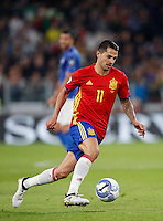 Spain Vitolo in action during the Fifa World Cup 2018 qualification soccer match between Italy and Spain at Turin's Juventus Stadium, October 6, 2016. The game ended 1-1.<br /> UPDATE IMAGES PRESS/Isabella Bonotto