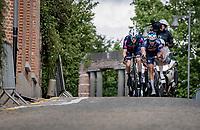 breakaway duo rolling through Heist-op-den-Berg<br /> <br /> Heylen Vastgoed Heistse Pijl 2021 (BEL)<br /> One day race from Vosselaar to Heist-op-den-Berg (BEL/193km)<br /> <br /> ©kramon