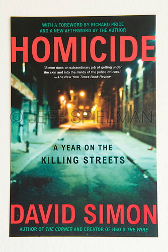HOMICIDE, A Year on the Killing Streets, by David Simon<br /> <br /> 2006 Trade Paperback Edition<br /> Owl Books/Henry Holt and Company<br /> Cover Design by Matthew Enderlin<br /> <br /> Photo of a New York City street at night available from Getty Images.  Please search for image # a0142-000024