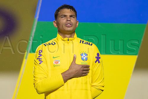 13th November 2020; Morumbi Stadium, Sao Paulo, Sao Paulo, Brazil; World Cup 2022 qualifiers; Brazil versus Venezuela;  Thiago Silva of Brazil