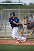 Stephen Reid during the WWBA World Championship at the Roger Dean Complex on October 18, 2018 in Jupiter, Florida.  Stephen Reid is an outfielder from Berkeley Heights, New Jersey who attends Governor Livingston High School and is committed to Georgia Tech.  (Mike Janes/Four Seam Images)
