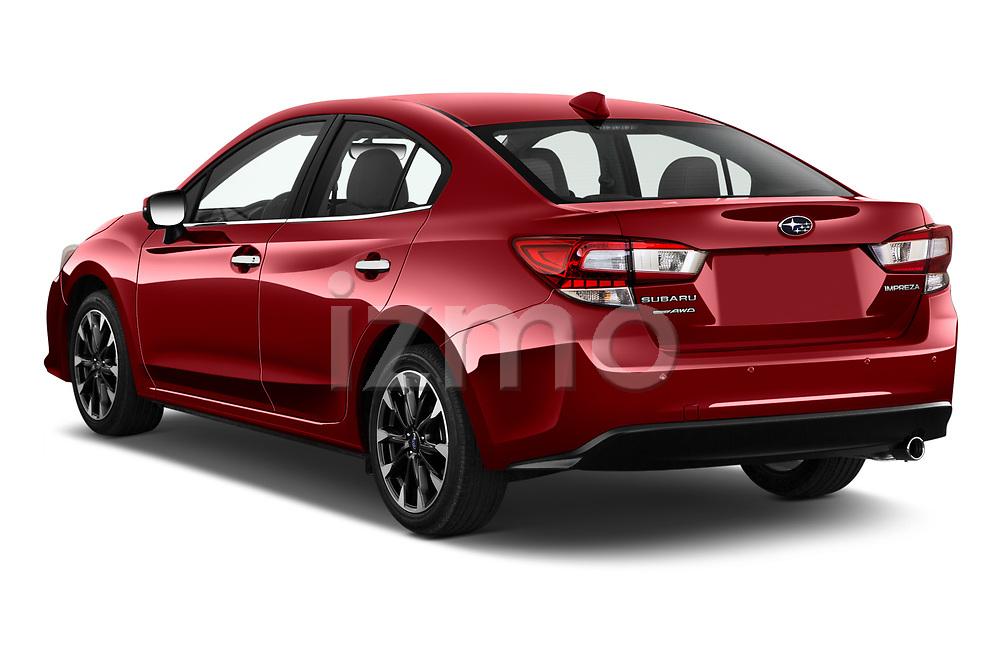 Car pictures of rear three quarter view of 2021 Subaru Impreza Limited 4 Door Sedan Angular Rear