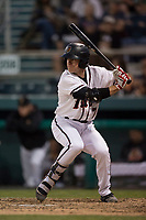 Modesto Nuts second baseman Donnie Walton (7) at bat during a California League game against the Lake Elsinore Storm at John Thurman Field on May 12, 2018 in Modesto, California. Lake Elsinore defeated Modesto 4-1. (Zachary Lucy/Four Seam Images)