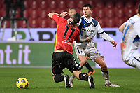 Christian Maggio of Benevento Calcio and Matteo Pessina of Atalanta BC compete for the ball during the Serie A football match between Benevento Calcio and Atalanta BC at Ciro Vigorito stadium in Benevento (Italy), January 9th, 2021. Photo Andrea Staccioli / Insidefoto