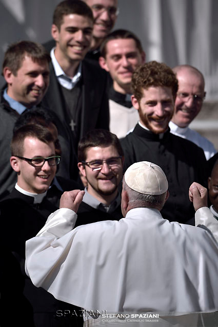 Pope Francis  during his weekly general audience in St. Peter square at the Vatican, Wednesday.March 2, 2016.