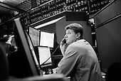 Chicago, Illinois.March 28, 2008 ..Chicago Mercantile Exchange - traders on the open outcry Euro/Dollar pit as markets continue to swing at 100+ points a day up or down. The mortgage crisis is being played out on Wall Street and world's financial markets..