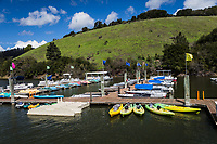 Spring is a week away, but the boat and kayak rentals are ready and waiting under blue skies and green hills at Lake Chabot Regional Park.