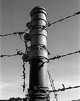 Fence post near Del Valle, 1987.   &#xA;<br />